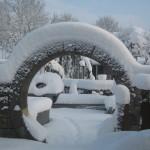 Raum, Blog Elisabeth Reinhard: Übergewicht, Untergewicht, seelische Sicht, Rund im Schnee
